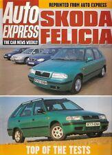 Skoda Felicia Hatchback Estate Road Test 1998-99 UK Market Brochure Auto Express
