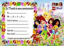 5 cartes invitation anniversaire Lego Friends 05  d'autres articles en vente