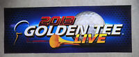 """GOLDEN TEE 2013 LIVE GOLF   25 3/5- 9 1/2 """" arcade game sign marquee cF36"""