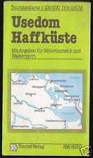 Touristenkarte, Usedom - Haffküste, 1981