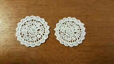2 Intricate Lace Doilies 1 12th Dolls House Dressing Table Mat Coffee Handmade