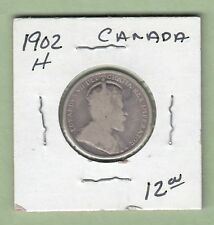 1902-H Canadian 25 Cents Silver Coin - Good/VG