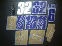 KIT NOME+NUMERO UFFICIALE FIORENTINA HOME/AWAY/3RD 2007-2011 OFFICIAL NAMESETS