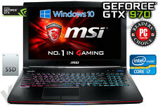 "MSI GE62 6QF Apache Pro 15.6"" Full HD Intel Core i7-6700HQ 16 Go 1TB+128GB GTX 970 M"