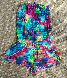 SEAFOLLY Womens playsuit romper size S - multicolour floral strapless viscose