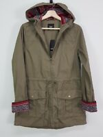 SPORTSGIRL | Womens Khaki Hooded Jacket NEW + TAGS [ Size AU 8 or US 4 ]