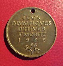 Jeux Olympiques Hiver St Moritz 1928 Participant - Olympics Games 1928 Medal