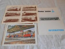 Vintage France trains and ABJ models brochure and catalogue new year card