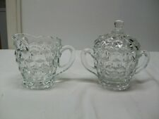 Vintage Indiana Glass Whitehall  Creamer and Sugar with Lid