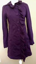 Kut from the Kloth Purple M Ruffle Button Long Jacket Knit Medium