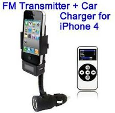 FM Transmitter carica batterie auto supporto per iPhone 3G S 4 4S iPod touch AUX