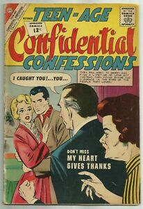 TEEN-AGE CONFIDENTIAL CONFESSIONS #14 (Mid-Century Romance) Charlton, 1962