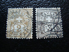 SUISSE - timbre yvert et tellier n° 100 101 obl (A15) stamp switzerland