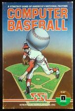 Computer Baseball (Commodore 64, Atari 400/800/XL/XE, 1981) - Complete C64