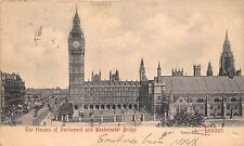 BR61125 the houses of parliament and westminster bridge  london   uk