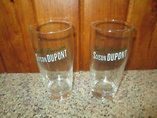 Lot of 2 Vintage Vieille Provision SAISON DUPONT Beer Glasses 12 Ounces