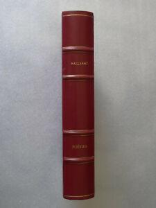 Stéphane Mallarmé  Poésies  illustrations de Lucien Fabre 1986 envoi signé