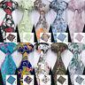 USA Mens Floral Tie Necktie Set Silk Red Pink Blue Green Orange Wedding Ties