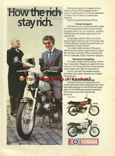 Yamaha YB100 / RS100 Motorcycle 1980 Magazine Advert #3707
