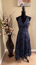 NWT ANTONIO MELANI Navy Blue Dress, Size 2 Retail $169