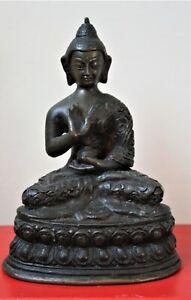 18th Century Bronze Tibetan Seated Buddha