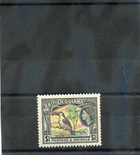 British Guiana Sc 265(Sg 343)*F-Vf Nh 1954 $1 Purple,Yellow,Green,Black $60