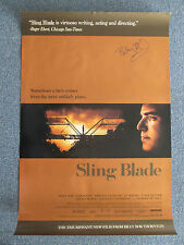 BILLY BOB THORNTON SIGNED POSTER PROOF SLING BLADE 27X40