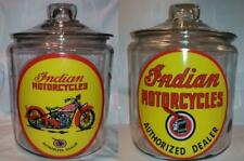 A Very Nice Indian Motorcycle Glass Counter Jar