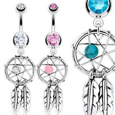 3 lot DREAM CATCHER WOVEN STAR Belly Button Navel Bar RINGS Piercing Jewelry