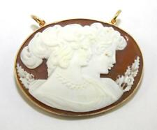 Antique, Victorian, 9ct Gold, Cameo Shell Pendant / Brooch, Boxed