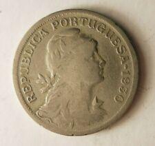 1930 Portugal 50 Centavos - Clé Date Pièce de Monnaie Bonne Affaire Poubelle