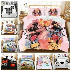 Mickey Mouse Bedding Set Quilt Duvet Cover Pillowcase Single Double King Size UK