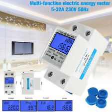 230V/50Hz DDM15SD Digital Electric Meter AC Meter DIN Rail KWh Meter Wattmeter