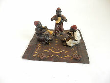 Vienna Cold Painted Bronze Depicting Children Playing Instruments Signed Bergman