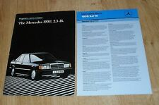 Mercedes 190E 2.3-16 Cosworth Brochure 1985-1987  2.3 16