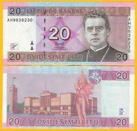 Lithuania 20 Litu p-69 2007 UNC Banknote