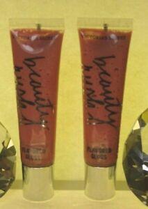 Victoria's Secret Beauty Rush Flavored Lip Gloss DECADENT BERRY X 2 SEALED
