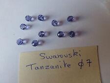 lot de 20 perle en cristal de SWAROVSKI  tanzanite violet diam 7 mm