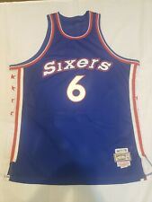#6 Julius Erving NBA WHITE Jersey Philadelphia 76ers Authentic Vintage Swingman