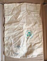 Vintage Reserve Bank Of Australia Calico Coin Cash Bag Green