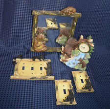 BLACK BEAR TOGGLE LIGHT SWITCH & PLATE MIRROR AND CLOCK COLLECTIONS