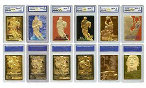 Kobe Bryant Mega-Deal Licensed 1996 ROOKIE Gold Cards Graded GEM 10 (SET OF 6)
