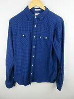Levi's Mens Shirt Size M Long Sleeve Button Up Standard Fit Pearl Snap Flannel
