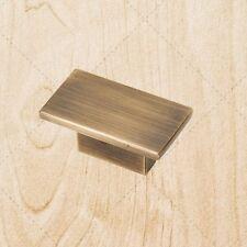 "Cabinet Hardware Flat Knobs kO1021 Brushed Antique Brass 1-9/16"""