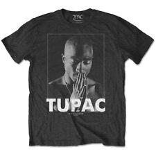 Tupac Praying Hip-Hop Rap Music Official 2Pac Shakur Mens Grey T-shirt