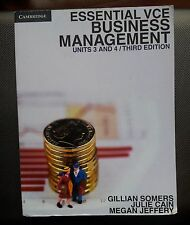 ESSENTIAL VCE BUSINESS MANAGEMENT UNITS 3 AND 4 /THIRD EDITION BOOK, USED GOOD