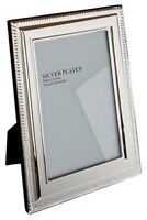 Unity 8 x 10-inch Bead Photo Frame, Silver Plated