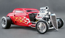 ACME 1934 BLOWN HEMI VINTAGE ALTERED NITRO COUPE RED MET W/ FLAMES 1:18*Rare!