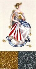 Mirabilia Counted Cross Stitch Chart and Bead Pack ~ QUEEN OF FREEDOM #64 Sale