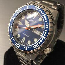Mens Citizen Watch Automatic NH8381-63L BLUE RAZOR Steel Genuine